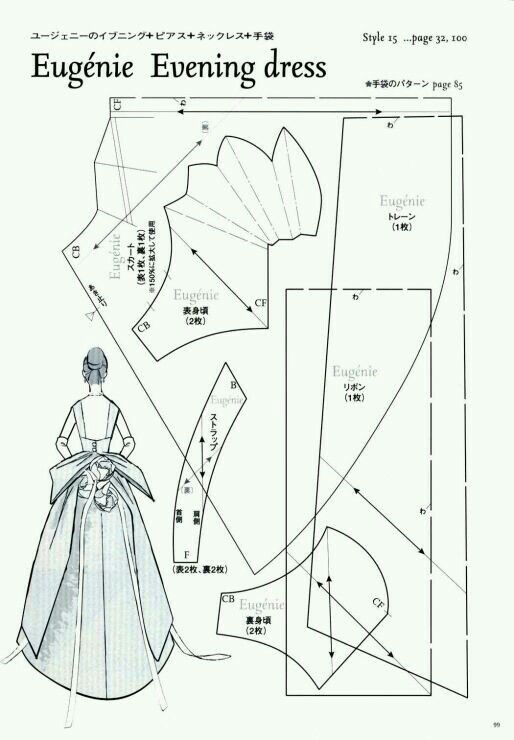 231 best doll clothes patterns images on Pinterest   Barbie dress ...