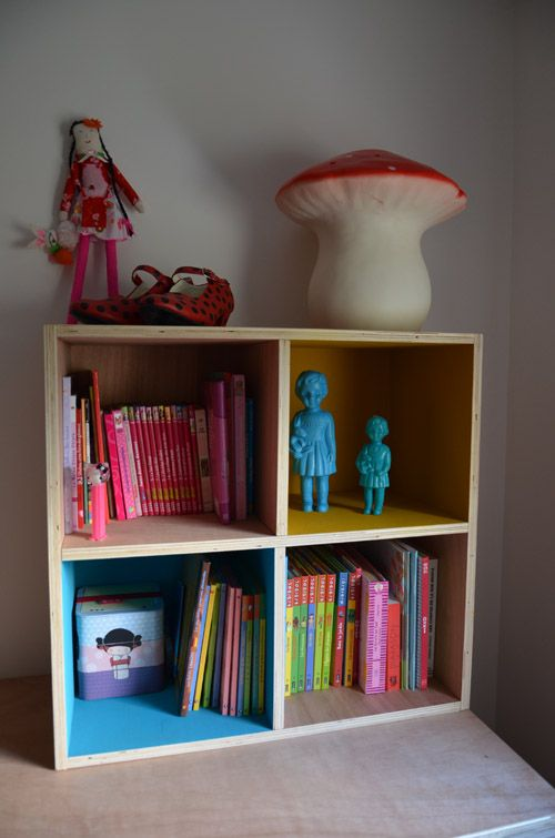 Meuble bois casier clonette dolls pinterest met and diy and crafts - Bibliotheque casier ikea ...