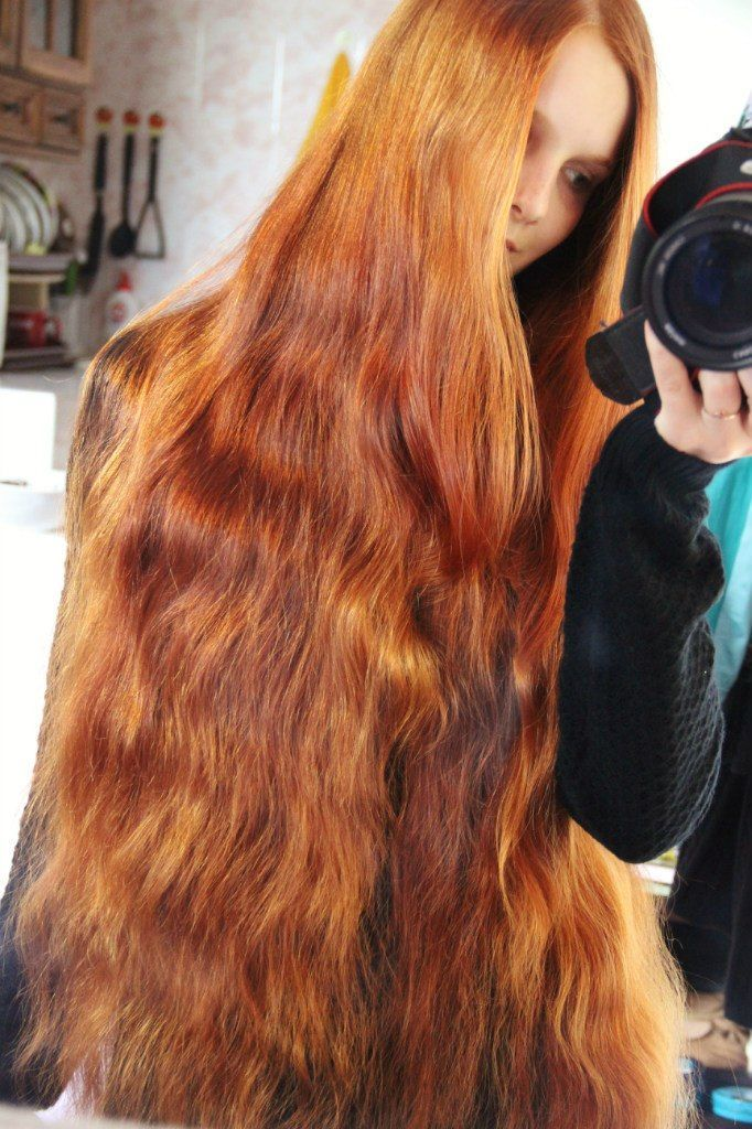 knee length red hair - Google Search