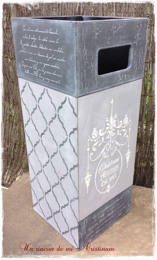 Corazón, cesto, cubiertos de madera y papelera reciclada... De todo un poco   Bricolaje