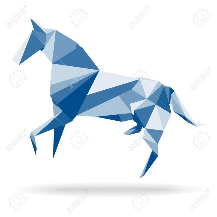24228855-Cheval-Cheval-polygone-Polygon-abstrait-vecteur-cheval-de-papier-origami-Illustration-de-cheval-dans-Banque-d'images.jpg (1300×1300)
