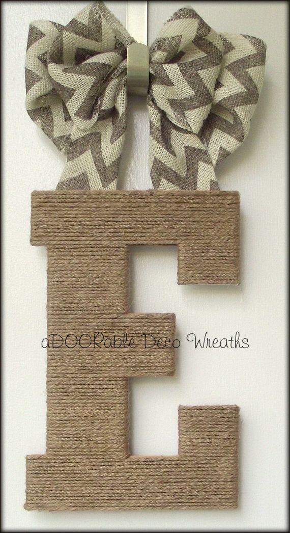 Initial+Door+Hanger+by+aDOORableDecoWreaths+on+Etsy,+$39.99