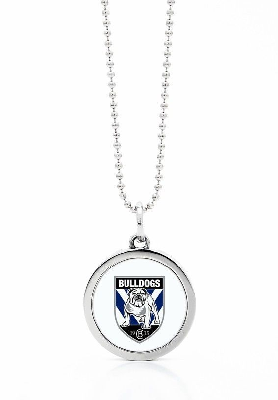 CANTERBURY BULLDOGS NRL LOGO ROUND PENDANT CHAIN NECKLACE JEWELLERY ACCESSORIES