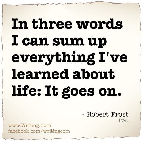 account of the life and writings of robert frost Robert frost is a celebrated american poet he had a great mastery of american colloquial speech and made realistic depictions of the early rural life account.
