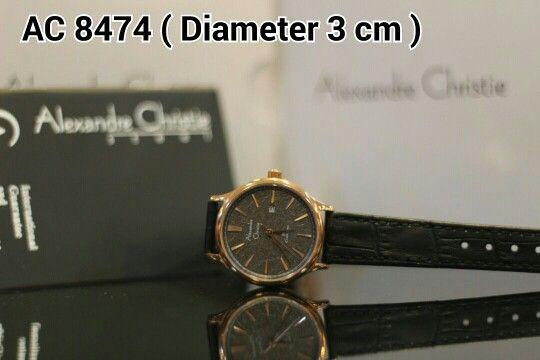ALEXANDRE CHRISTIE 8474 Harga IDR 950.000 Material : Leather black - ring rosegold  Diameter 3 cm Garansi mesin 1 tahun international