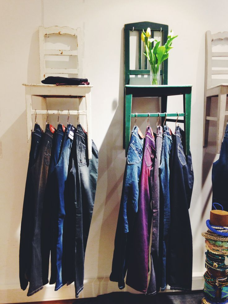 smart idea for hanging clothes.