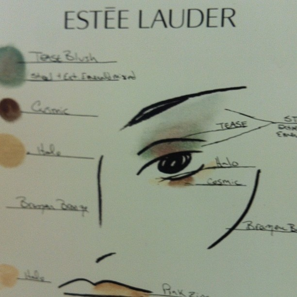 Beauty directions from Estée Lauder, at #dereklam. Photo by the WSJ's Elva Ramirez. #nyfw