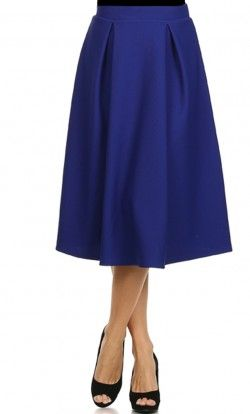 Vintage Pleated Mid-Length Skirt
