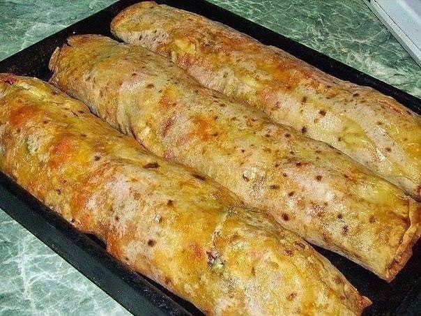 Фаршированный лаваш, запеченный в духовке, - отличная идея! | Кулинарные Рецепты