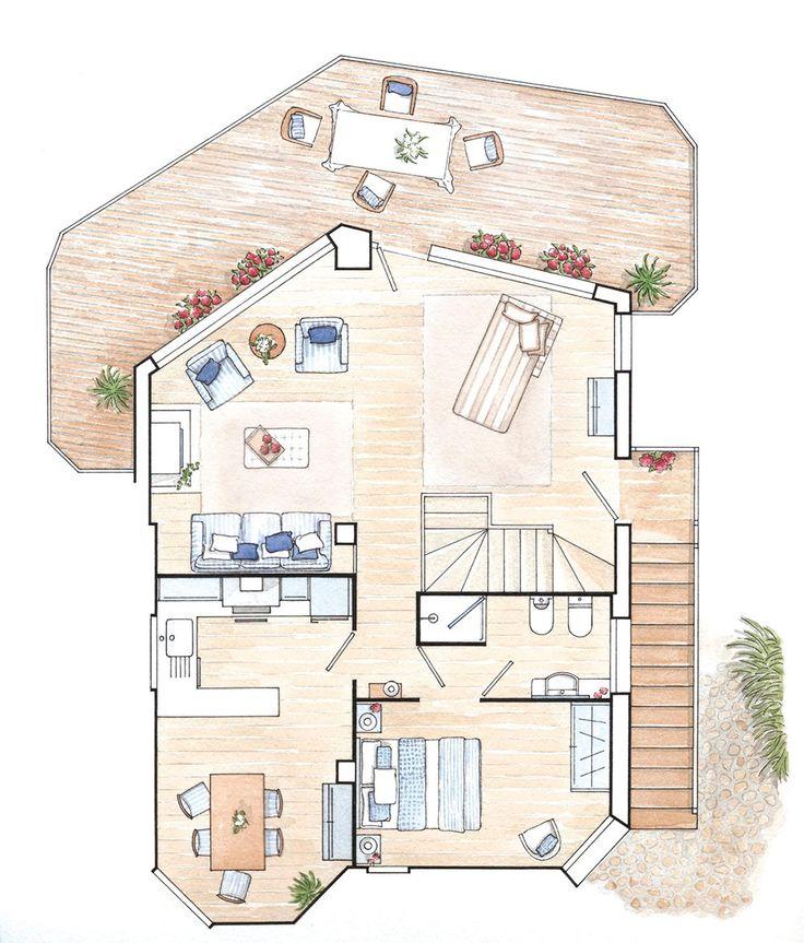 M s de 1000 ideas sobre planos de la casa de caba a en - Plano de la casa ...