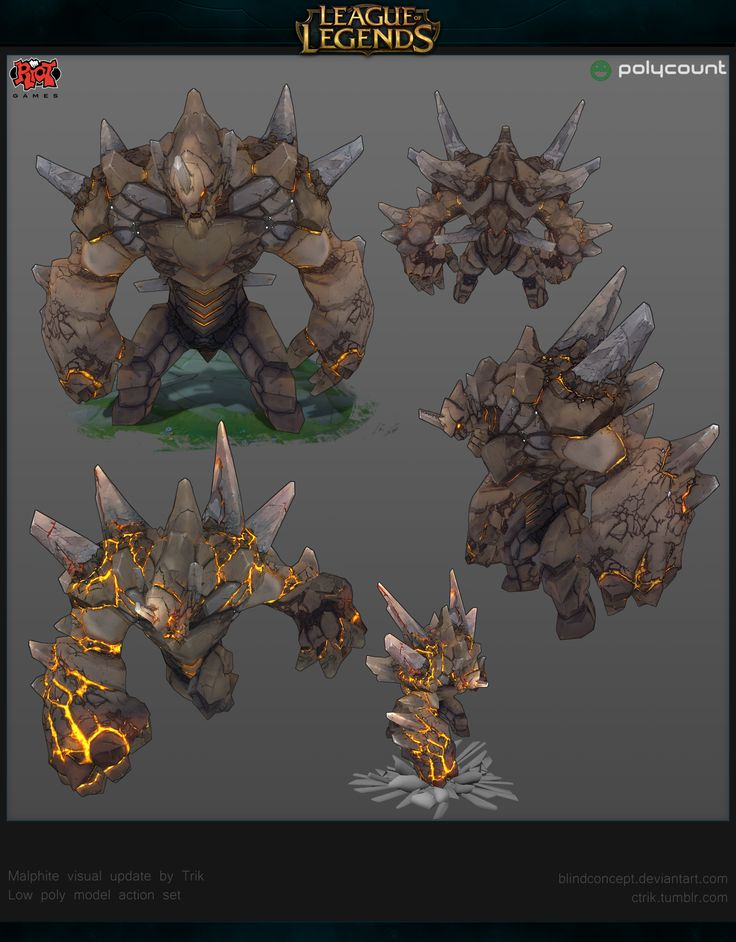 [Riot Art Contest] - Malphite - Trik - Polycount Forum