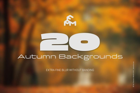 20 Autumn Blurred Backgrounds by MARTINI Type Designer on Creative Market