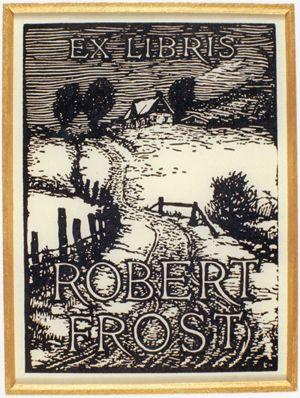 Robert Frost's Bookplate