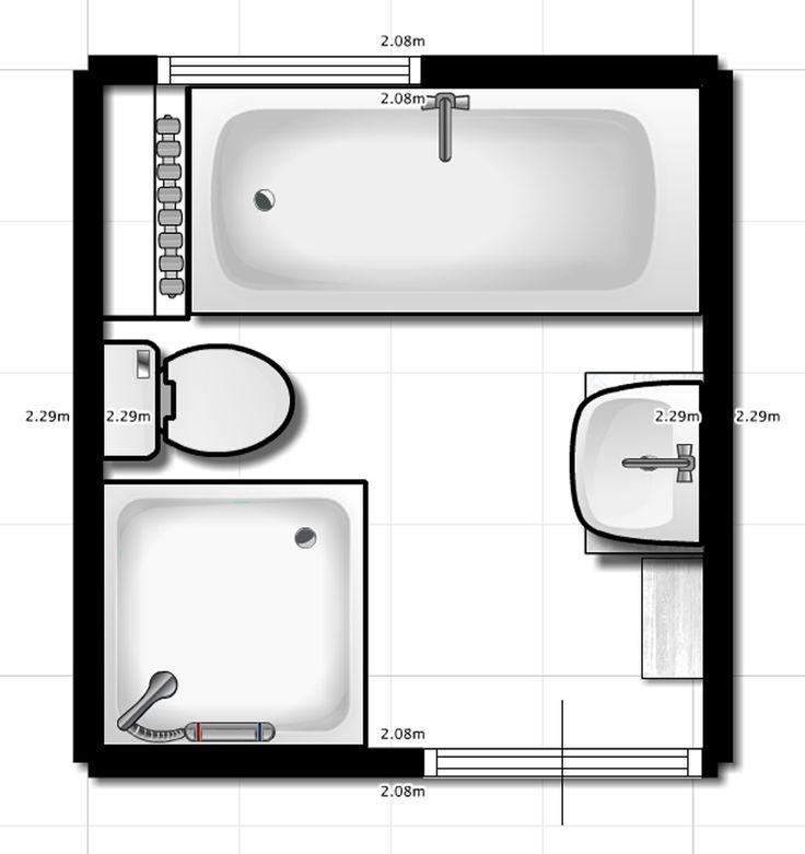 25+ beste ideeën over Kleine badkamer indeling op Pinterest ...