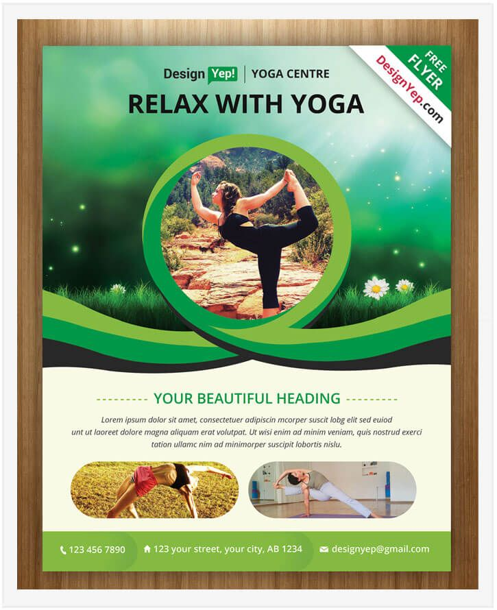 10 Free Yoga Flyer Templates In Psd Ai Eps Tech Trainee Yoga Flyer Free Psd Flyer Templates Psd Flyer Templates