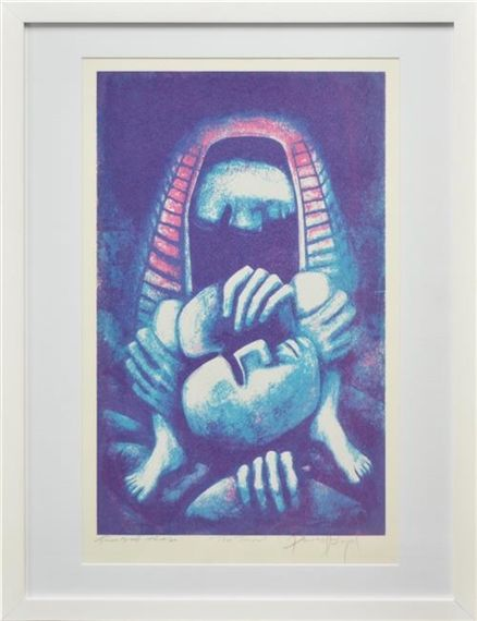 Artwork by David Boyd, The Trial, Made of screenprint