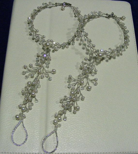 Beach wedding barefoot sandals  made to order by Nanda on Etsy, $28.00