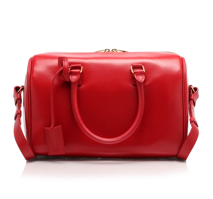 Leather trunk bag with hand/shoulder handles and removable ...