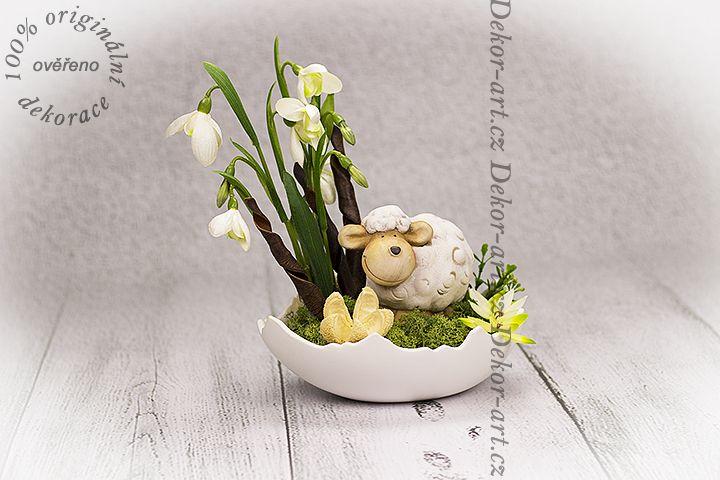 #Velikonoční #dekorace do bytu ve skořápce.