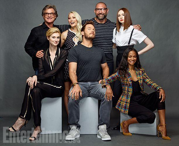 Kurt Russell, Pom Klementieff, Dave Bautista, Karen Gillan, Zoe Saldana, Chris Pratt and Elizabeth Debicki - Guardians of the Galaxy Vol. 2 #SDCC16