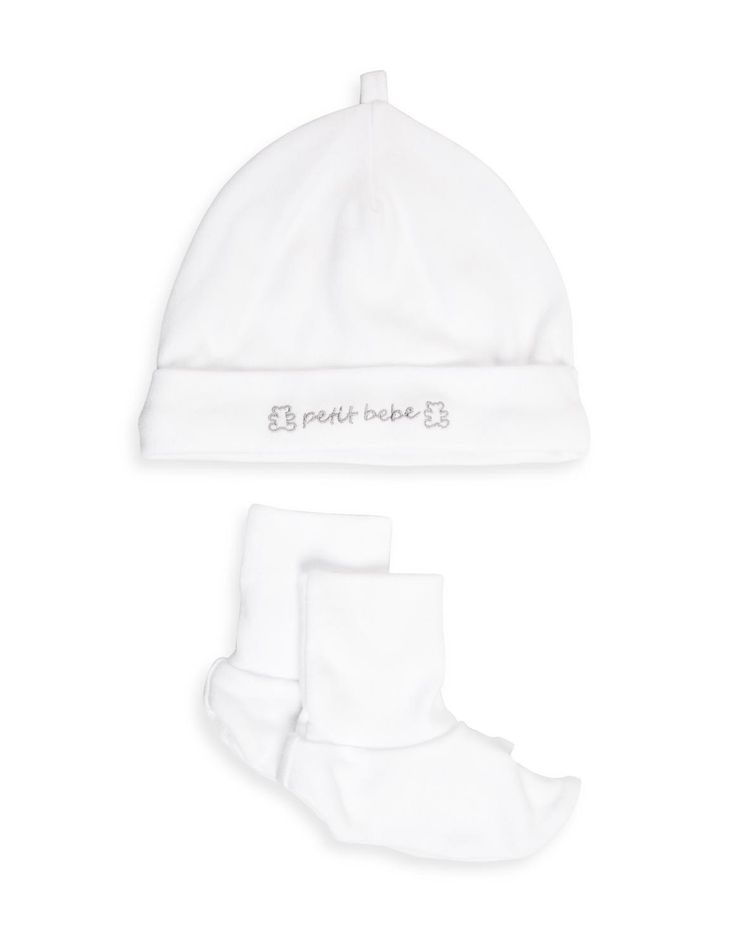 Embroidered Beanie Set