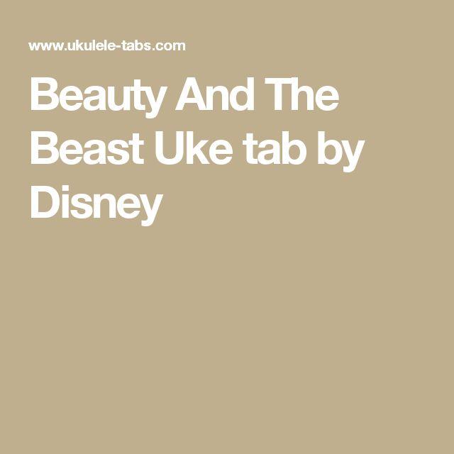Beauty And The Beast Sheet Music With Lyrics: Best 25+ Ukulele Songs Disney Ideas On Pinterest