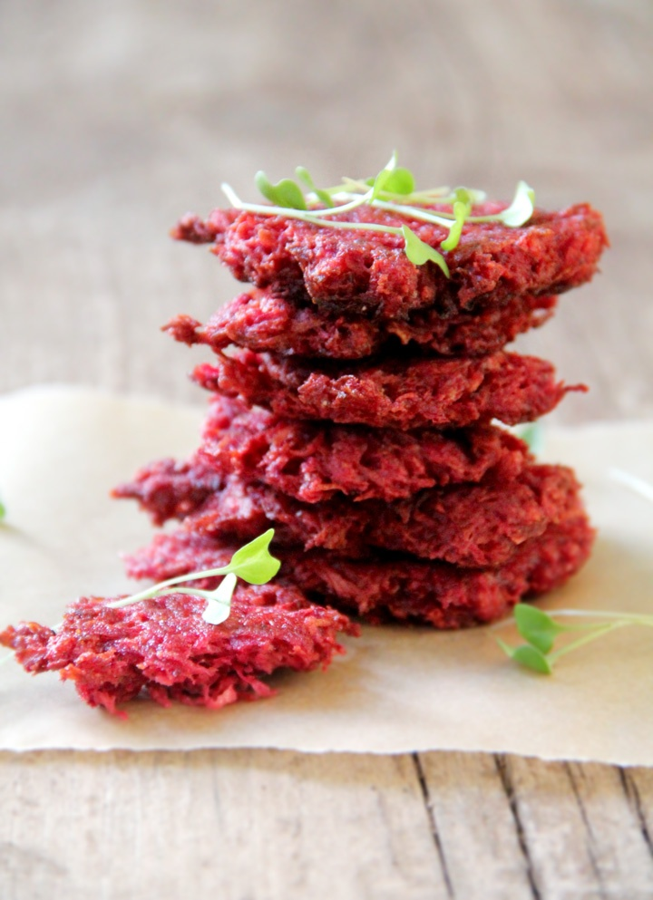 Beet & White Carrot Latkes! D'oah this is the one I want to try with ...