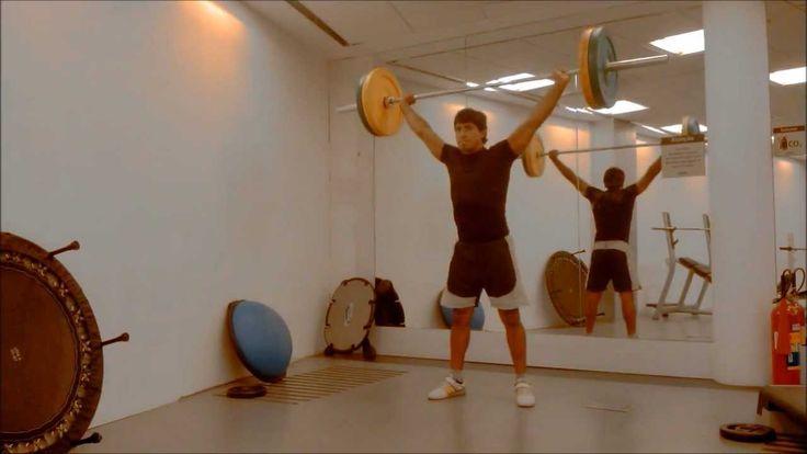 EVERSON INDIO - Exercícios de levantamento de peso olímpico - YouTube