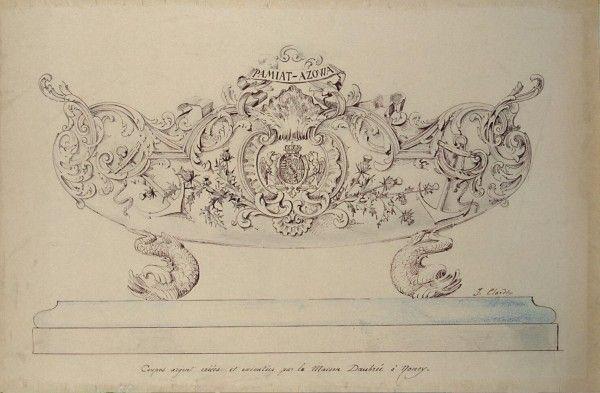 Эларден, Ж - Рисунок чаши, поднесенной экипажу корабля Память Азова шедевры мировой живописи бесплатно скачать