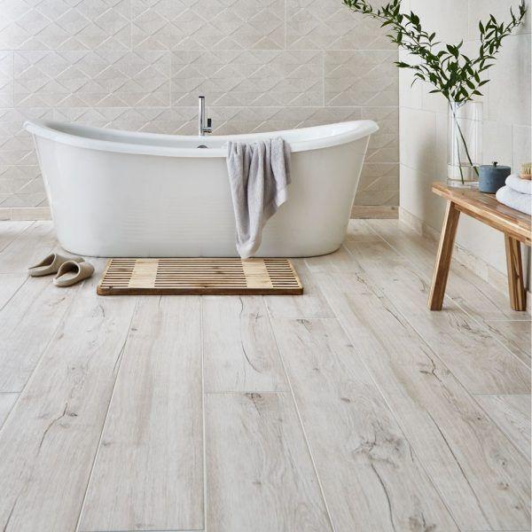 Mumble B Light Oak 23x180 Wood Floor Bathroom Wood Tile