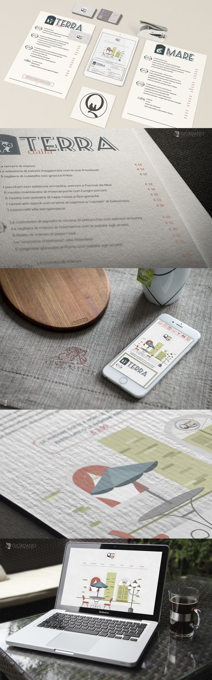 Ready new Menu for Il Quattro Gatti Restaurant, printing on cardboard 180 gr - tri fold and web page enjoyable also from smartphones and tablets.  #Branding #WebDesign #GraphicDesign #Typography #MobileFriendly #UserExperience #WebDeveloper #ResponsiveDesign #Printing #Restaurant #Food #Pranzo #Ristorante #Restaurants #Buonappetito #Dinner #Foodie #Brunch #Dishes #Wine