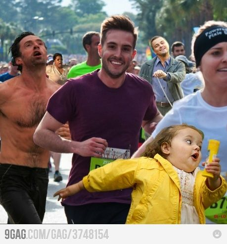 Who shall win? I assume there are memes for the other pics, but I only recognize ridiculously photogenic guy and the little girl (i love her!). Can anyone point me to the other 3?