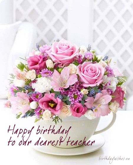 birthday card for dearest teacher