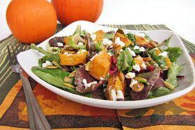 pumpkin cranberry goat cheese salad