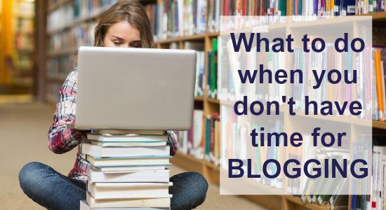 No time blogging