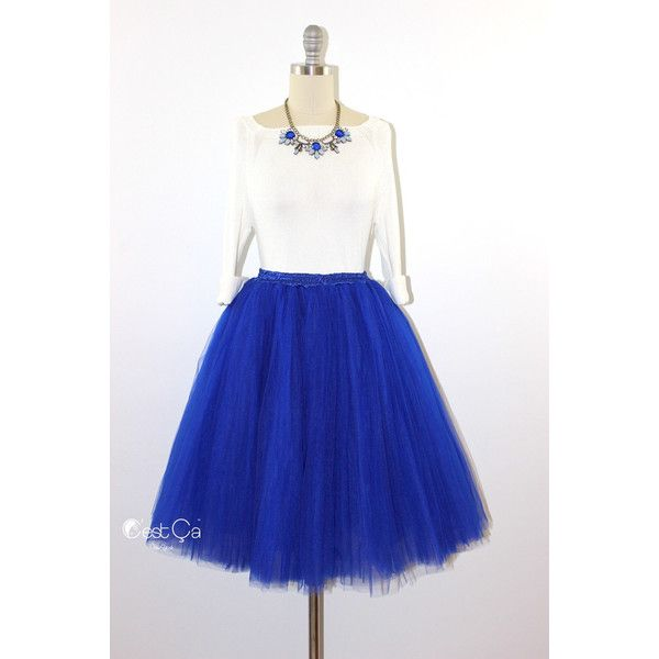 Cassie Tulle Skirt Royal Blue Tulle Skirt Cobalt Blue Tulle Skirt... (115 NZD) ❤ liked on Polyvore featuring light purple, skirts and women's clothing