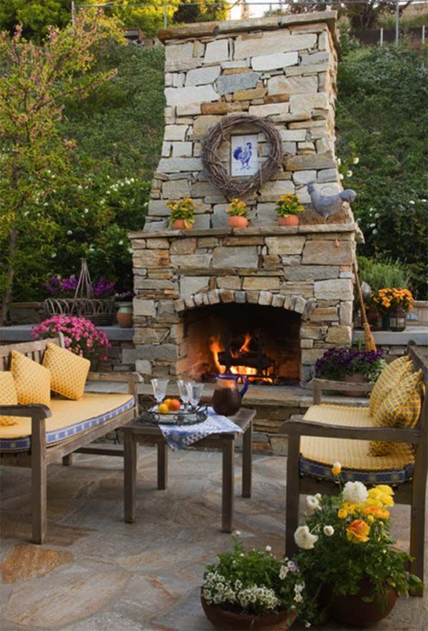 best 25+ outdoor fireplace designs ideas on pinterest | outdoor ... - Patio With Fireplace Ideas