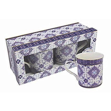 William Morris Art Around The World Collection Azueljo Blue Mugs - Set of 2