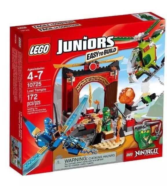 LEGO Ninjago Juniors Set 10725 Lost Temple Blue & Green Ninja. NEW! FAST S&H!!!