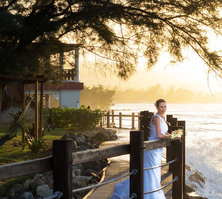 Bride On The Boardwalk At Jewel Paradise Cove Resort Spa JamaicaWeddings