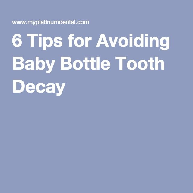 6 Tips for Avoiding Baby Bottle Tooth Decay