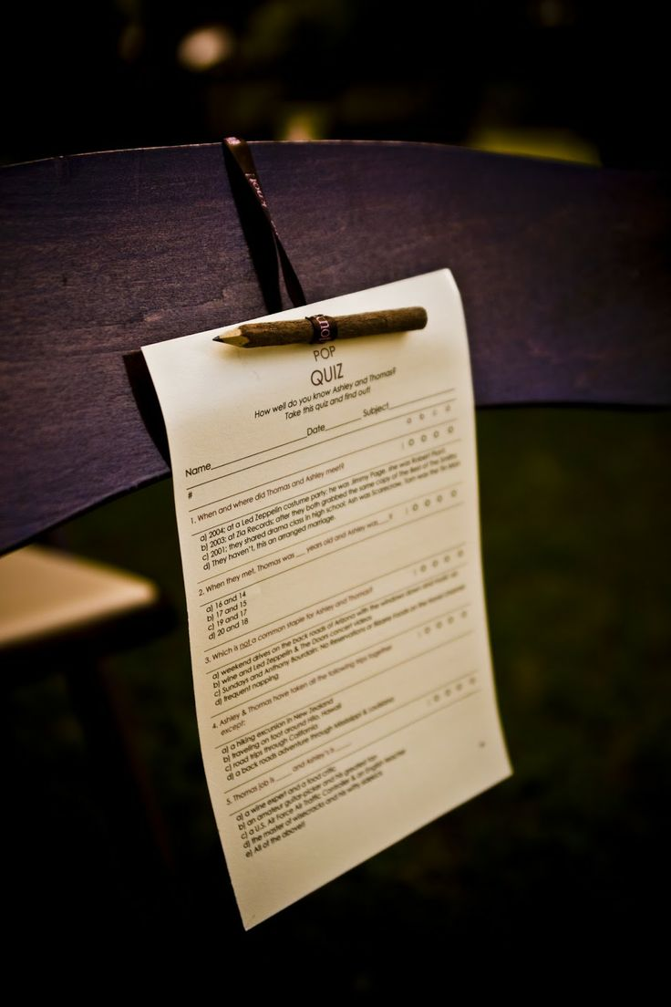 School Teacher Wedding Ideas