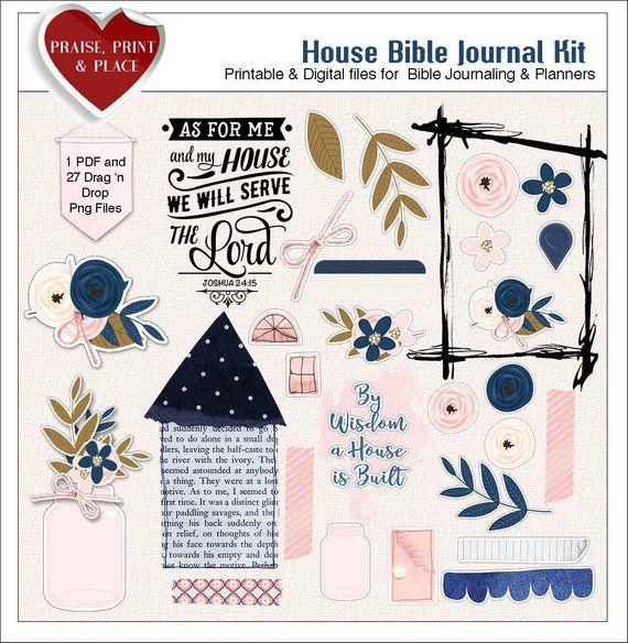 House Bible Journal Kit: Bothe Printable and Digital Use on