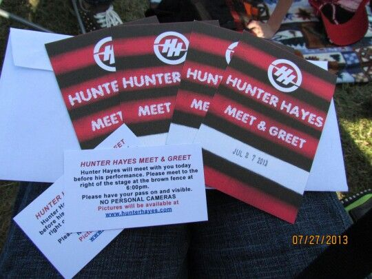 meet and greet tickets hunter hayes