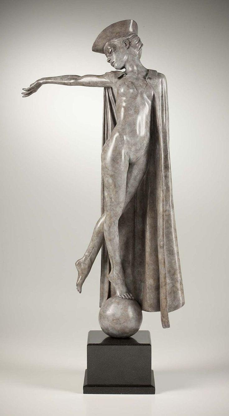 """Haciendo señas "", base de bronce sobre base de granito. Michael Talbot [Escultura]"