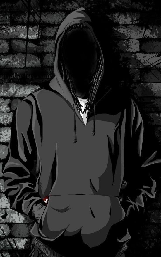 Hooded man | Seni gelap, Orang animasi, Seni jalanan