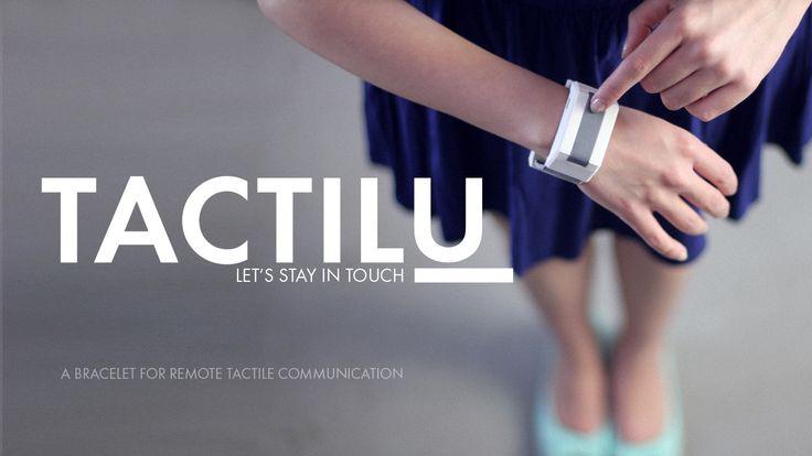 TACTILU - a bracelet for remote tactile communication. www.tactilu.com