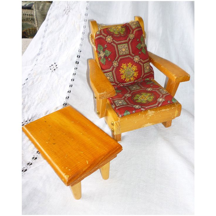 Pert Pat NH Doll Furniture Arm Chair and Coffee Table ...