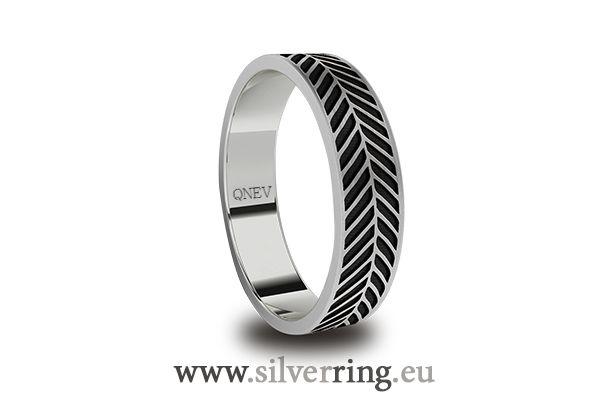 Obrączki. Wzory. Obrączki srebrne. Silver ring.