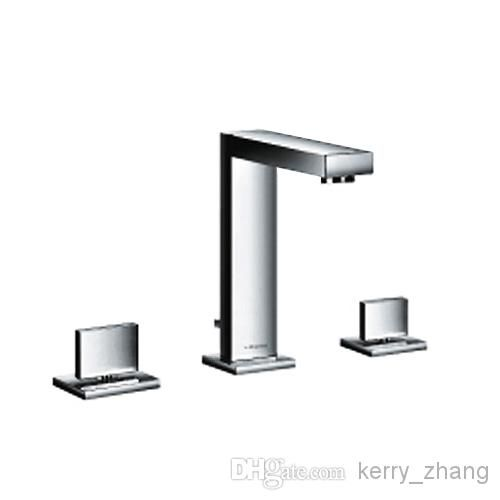 Bathroom Faucet Basin Mixer Tap Sink 3 Hole Double Handle High Quality Chrome Brass Square From Kerry_zhang, $78.54 | Dhgate.Com